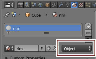 material links object